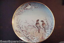 "The Franklin Mint Heirloom ""Finches and Cherry Blossoms"" Signed by J. Cheng[5-2]"