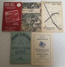 Lot 5 Old Rare Collector Gun, Firearms Catalog Books: