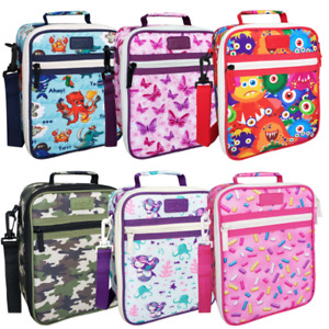 Sachi insulated cooler junior lunch bags tote - mix of designs