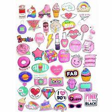 60Pcs Waterproof Girls Kawaii Pink Fun Cool Fashion Sticker Toy Luggage Stickers