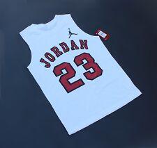 Nike Jordan Jumpman Jersey T Size XL 13-15 yrs White / Red (NWT Retail $20)