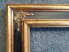 Picture Frame-20x24 Shabby Chic Antique Style Ornate Baroque Gold &Black 980715