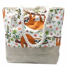 Sloth - Rope Handle Tote Bag - Beach / Shopping Bag - Brand New