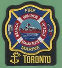 TORONTO ONTARIO CANADA FIRE DEPARTMENT FIRE BOAT PATCH