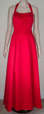 MORI LEE Long Formal Prom Homecoming Halter Dress Sz 5/6 Full Length RED