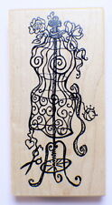 Psx K-3158 Manequin Dress Form Wooden Rubber Stamp