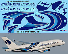 1/144 Airbus a 380 Malaysia Airlines for Revell Decals TBDecal TBD214