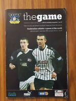 Dunfermline Athletic v Queen of the South programme 30th January 2010 1st Div