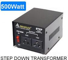 500W STEP DOWN TRANSFORMER STEPDOWN 240V - 110V BLACK