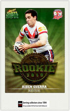 2011 Select NRL Champions Trading Cards Rookie 2010 R47 Aiden Guerra (Roosters)