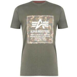 Brand New Alpha Industries Men's Camo Block T-Shirt Size Medium Tee RRP £40