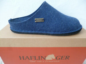 Haflinger Ladies Slippers House Shoes Mules Blue New
