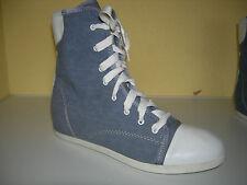 LILIMILL Comfort Damen High-Top Turnschuhe Sneaker Textil Leder Italy Gr.37 Neuw