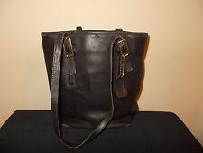 VTG-Coach Authentic Bucket Legacy Tote 10x10 Black Leather Handbag Purse 9803