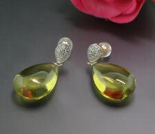 Citrin Diamant Ohrhänger total 30,08 Carat  585er Gelbgold Wert 2200 Euro