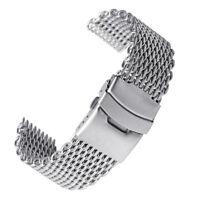 Men Watch Band Wrist Stainless Steel Quick Release Strap 18/20/22/24mm Link Belt