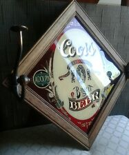 Coors beer sign reverse glass style graphic mirror bar Adolph vintage wall