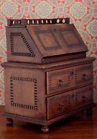 Antique Salesman Sample Burl Walnut Slant Front Desk William & Mary Style