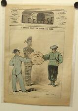 Caricature,Journal l'éclipse,L'union fait la force, Gill, 27 juin 1875