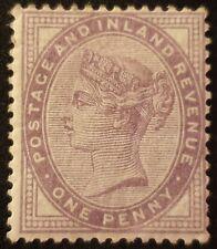 Duzik: Gb Qv Sg172 1d lilac 16 dots M/M stamp (No1324)*