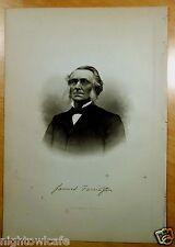 DR. JAMES FARRINGTON Rochester, NH Antique Print 1882 Steel Engraving PORTRAIT