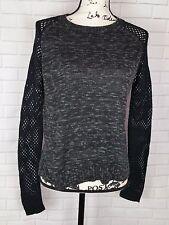 BCX Women's Long Sleeve Pullover Crewneck Gray Black Sweater Size XL