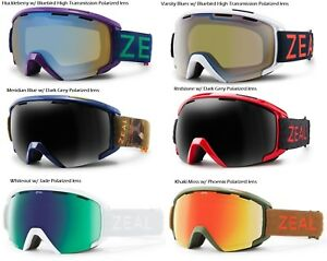 NEW Zeal Slate Polarized Mid-sized Mens OTG Ski Snowboard Goggles Msrp$200