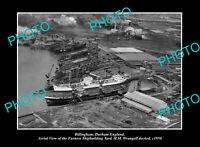 OLD POSTCARD SIZE PHOTO BILLINGHAM DURHAM ENGLAND THE SHIP BUILDING YARD c1950