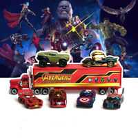 7PCS The Avengers Heroes Style Truck & Car Model Gift Toy Vehicle Gift Collectio