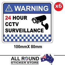 6 PACK Warning CCTV Security Surveillance Camera Sticker Sign 100mm x 80mm