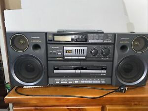 Panasonic Boombox Ghetto Blaster RXDT680 S-XBS Radio Dual Cassette CD