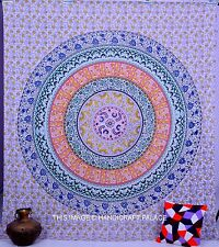 Indian Mandala Tapestry Hippie Wall Hanging Ethnic Bedspread Dorm Decor Bohemian