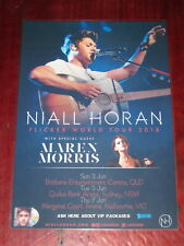 NIALL HORAN - 2018 Australia Tour - ONE DIRECTION -  Laminated Tour Poster