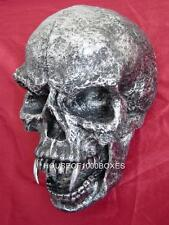 SKULL WITH FANGS WALL MOUNT MORBID VAMPIRE DECOR HALLOWEEN SCARY EVIL