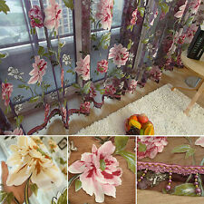 Home Textile Flower Embroidered Dramatic Fabric Tulle Sheer 3D Window Curtain
