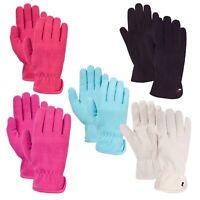 Trespass Plummet Womens Elasticated Fleece Gloves Warm Winter Mitts for Ladies
