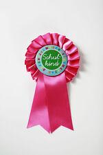 Orden Button Anstecknadel Rosette Einschulung Schulkind pink Schultüte Geschenk