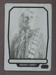 2013 Topps Star Wars Galactic Files 2 Chewbacca 1/1 Black Printing Plate
