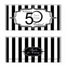 Black And White Theme Chocolate Wrappers Printable Digital - Print At Home