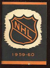 1959/1960 NHL Hockey Press & Radio Guide EX+