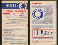 """GARAGE POMPES ESSENCE """"AZUR"""" Loterie / Jeux période 1960-1970"""