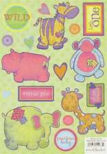 BABY ANIMALS Scrapbook Stickers and Phrases