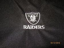 "Raiders ADULT T-Shirt / Medium ""NFL"" Black s/s"