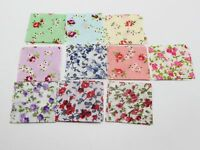 100pcs Floral Fabric Squares Sheets 40mm Die Cuts Applique For Tsumami Flower