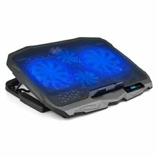 12''-15.6'' Ultra Slim 2 USBs Cooler LCD Fans Notebook Laptop Cooling Pad Stand