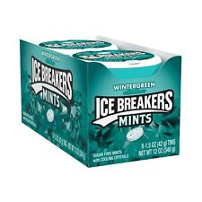 ICE BREAKERS, WINTERGREEN MINT TIN-1.5oz  - PACK OF 8