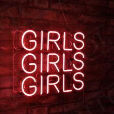 "17""x14"" Pink GIRLS GIRLS GIRLS  Beer Bar Bistro Wall Window Neon Sign Pub Room"