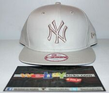 New Era New York Yankees Ivory Bone Off White Snapback Cap Hat New