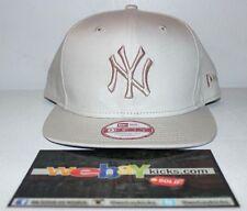New Era New York Yankees Ivory Bone Off White Snapback Cap Hat New