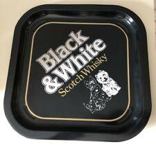 "Black & White Scotch Whisky Tray 13"" Scottie Westie Scottish Terrier Scotty Dog"